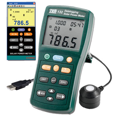 Solar Power Meter (Datalogging)