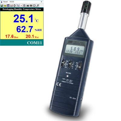 Datalogging Humidity/Temperature Meter